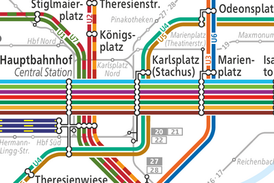 Public Transport (U- & S-Bahn, Tram and Bus)