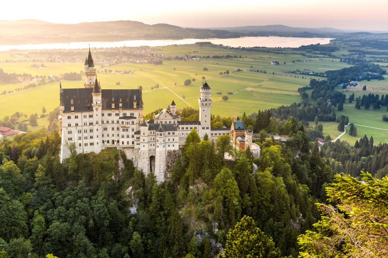 Neuschwanstein Castle and Linderhof Castle